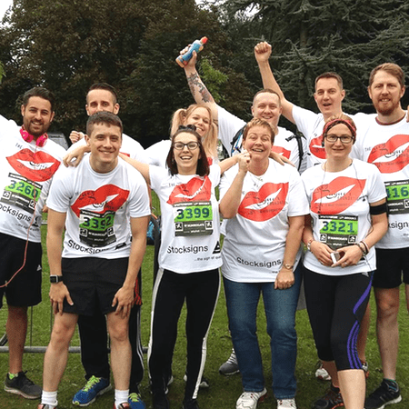 Lucy Rayner Foundation charity fundraising runners at the end of the sponsored charity race