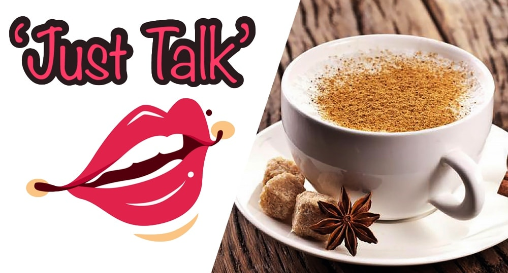 Just Talk coffee morning banner