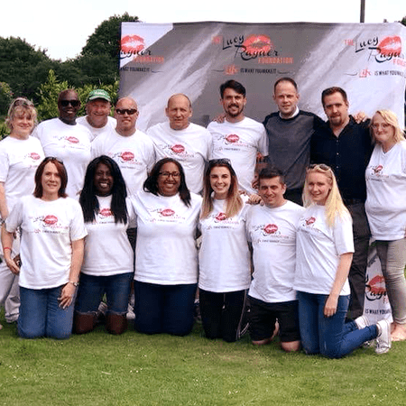 Volunteers for the Lucy Rayner Foundation charity fundraising